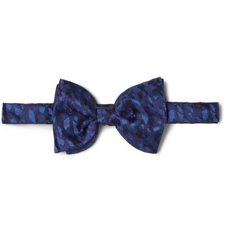 Lanvin New Alber Camouflage Silk Bow Tie | MR PORTER