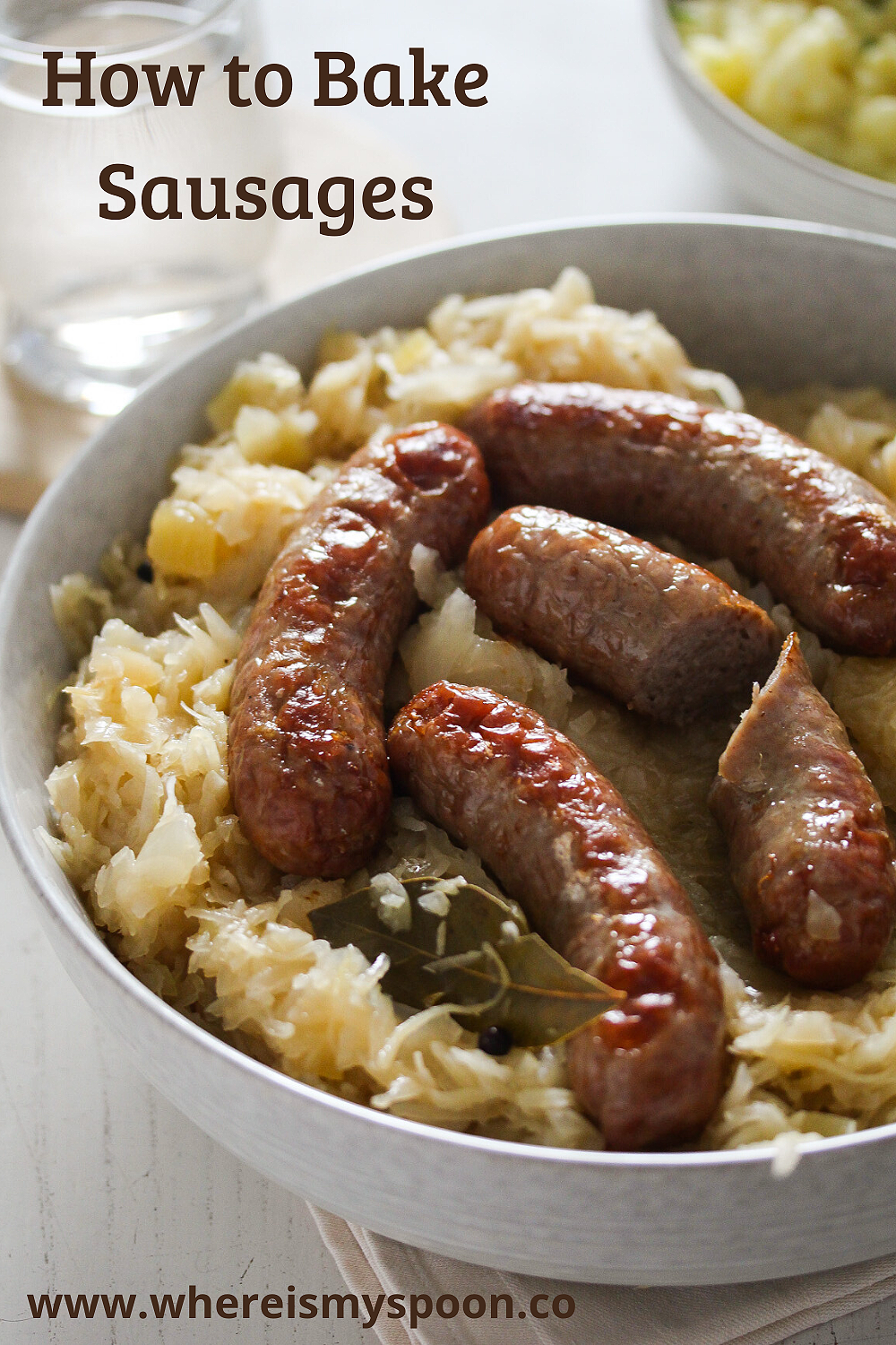 How To Cook Brats In The Oven Recipe Sausages In The Oven How To Cook Sausage Sausage Bake