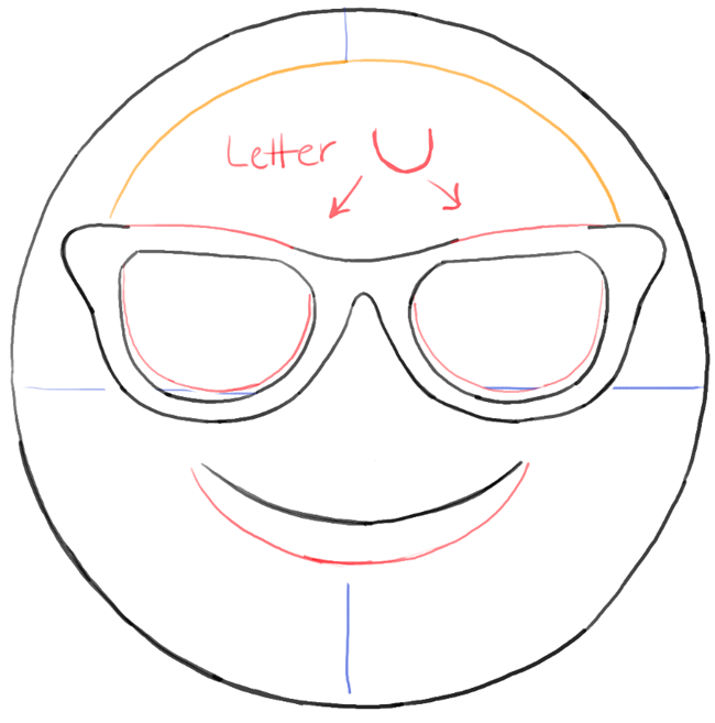 How to draw sunglasses emoji face with easy steps tutorial how to draw dat