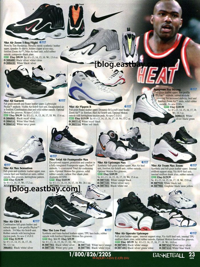 6e0f20a1aacf Eastbay Memory Lane    Tim Hardaway s Nike Air Zoom T-Bug Flight. I prefer  the Air Max Sensation but Hardaway had some interesting kicks back in the  day.