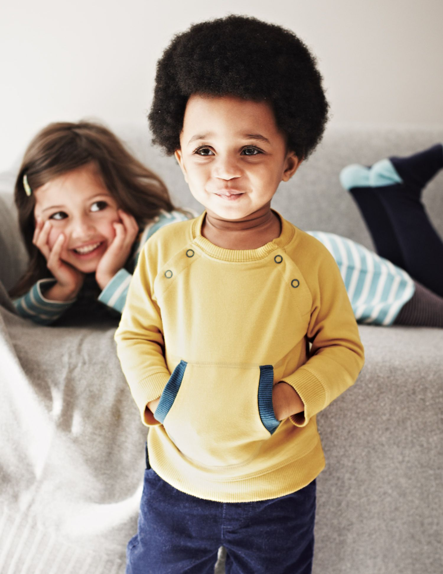 Black and yellow hair boy cosy pocket top rory  thread and fabric  pinterest  mini boden