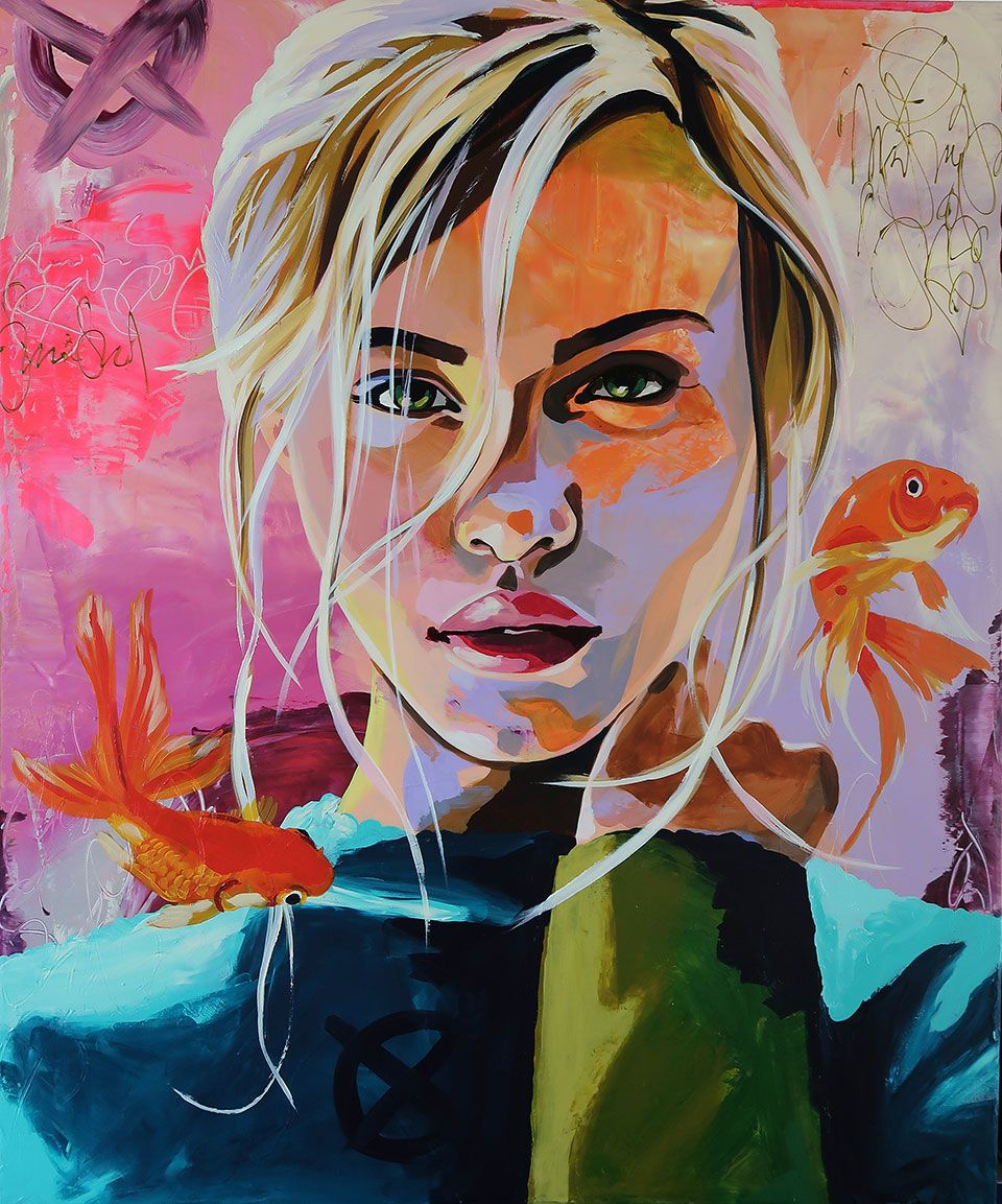 Galleri Kunstproduktion Malerei Bunte Kunst