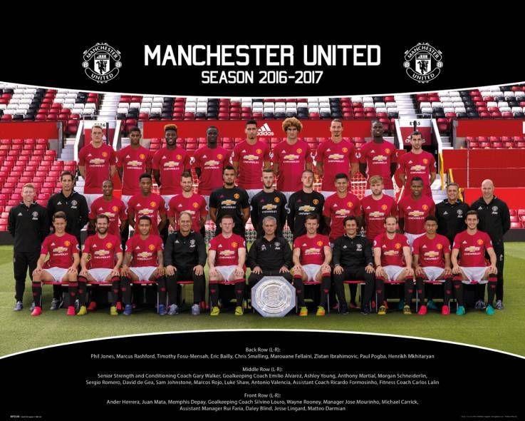 Manchester United Team Photo 16 17 Mini Poster Manchester United Team Manchester United Manchester United Poster