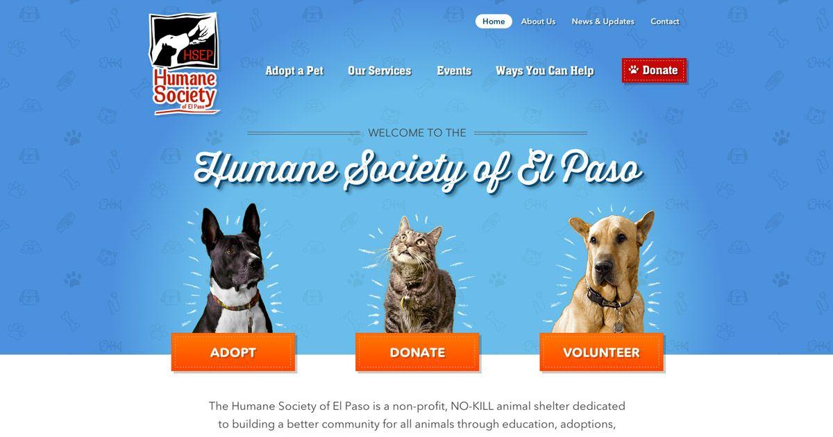 Humane Society Of El Paso Non Profit No Kill Animal Shelter No Kill Animal Shelter Animal Shelter Humane Society