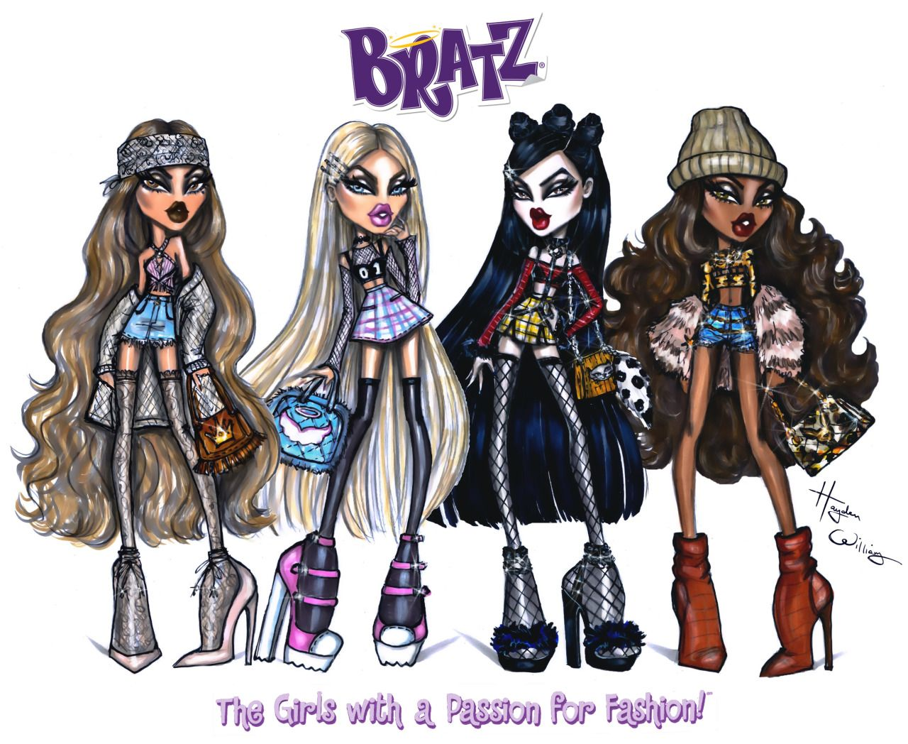hayden williams fashion illustrations the bratz pack