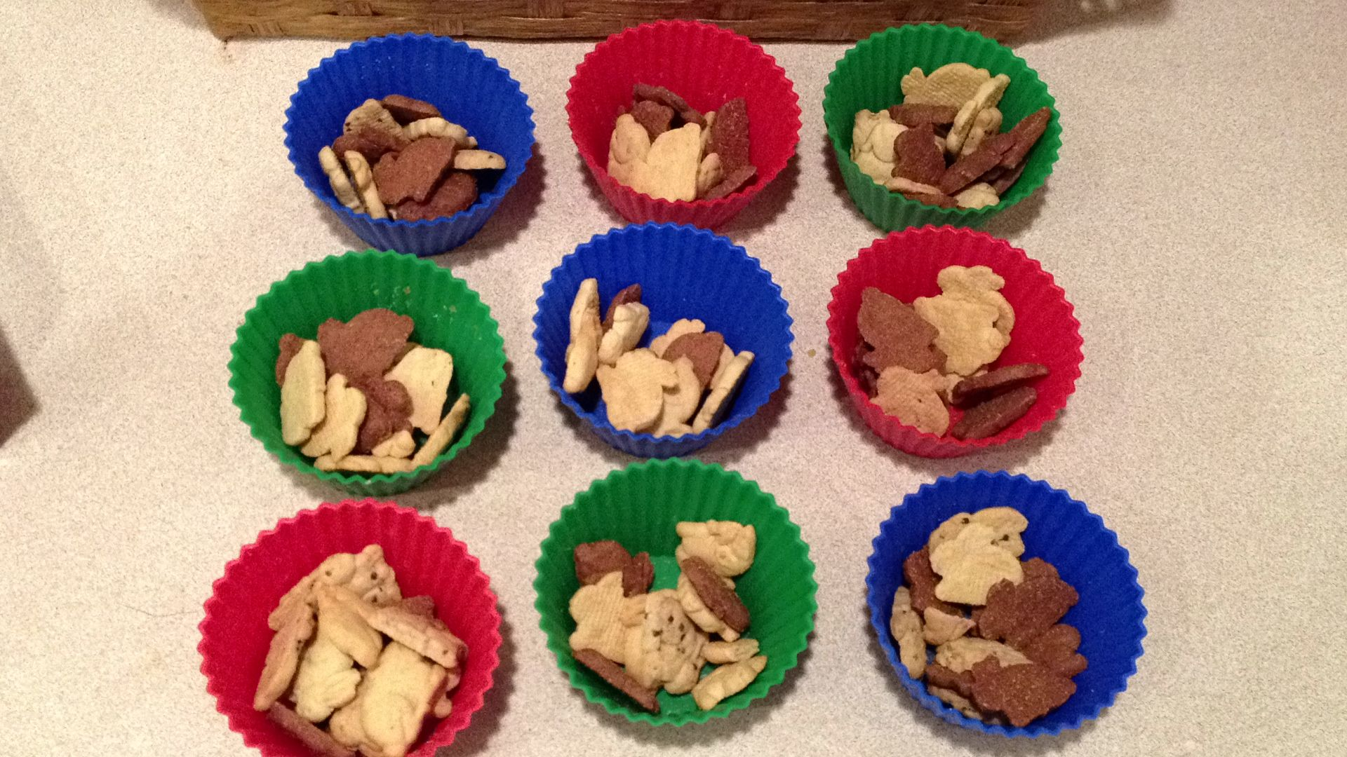 Toddler Snacks In Reusable Muffin Cups