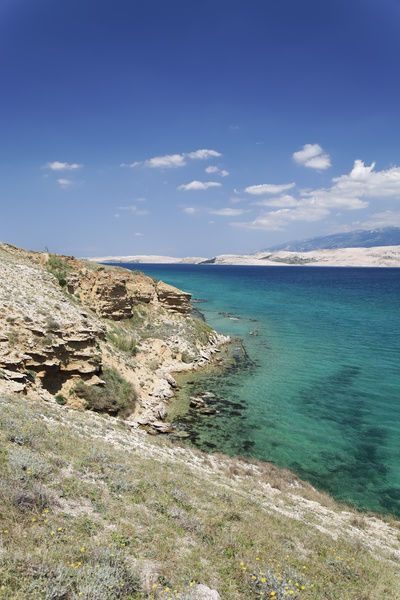Canvas Print-Coast, Pag island, Zadar, Croatia, Dalmatia, Europe-20