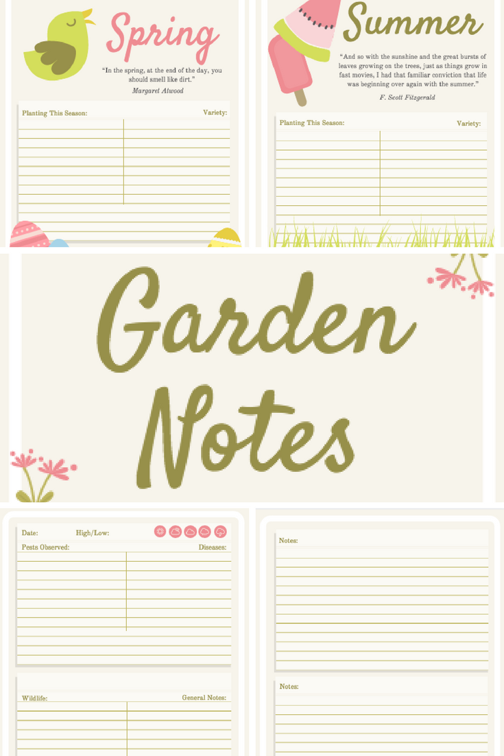 Free gardening journal template pages vivis garden blog free gardening journal template pages maxwellsz