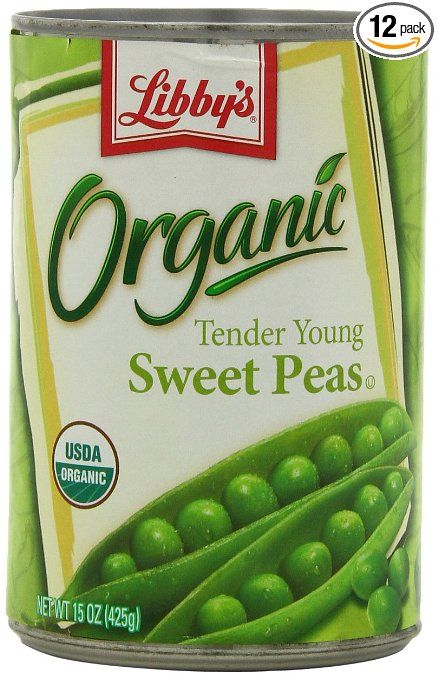 Libby's Organic Sweet Peas, 15-Ounces Cans (Pack of 12): Amazon.com: Grocery & Gourmet Food