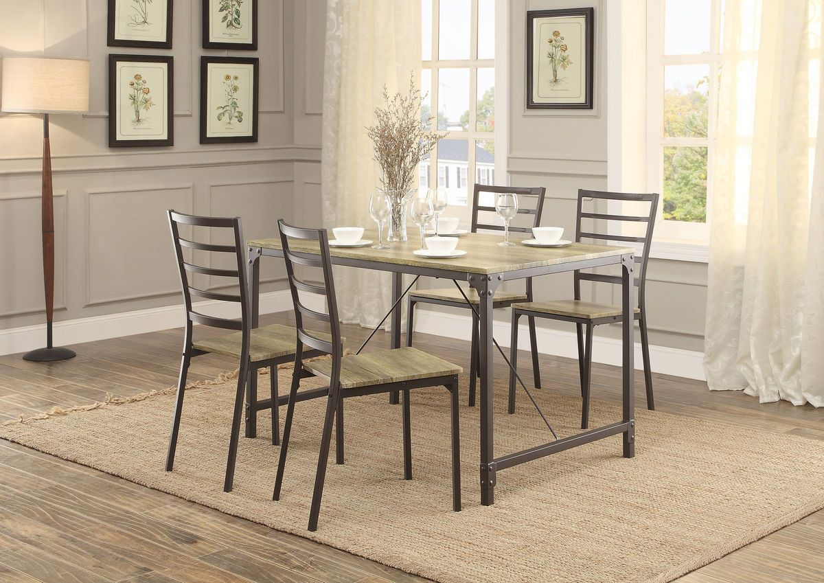Home Elegance Rumi Pcs Dinette Set Dining Table u Chairs Set
