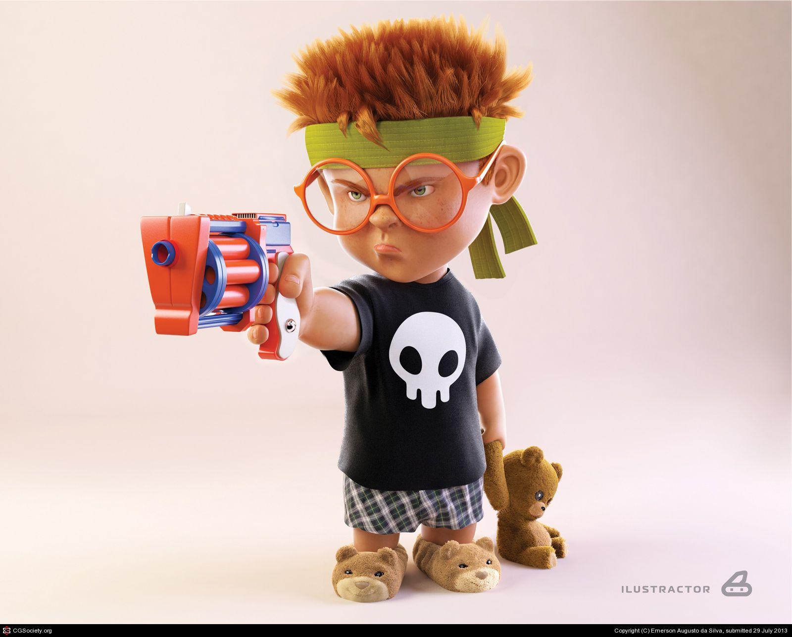 bad kid by emerson augusto da silva 3d cgsociety 3d cartoon