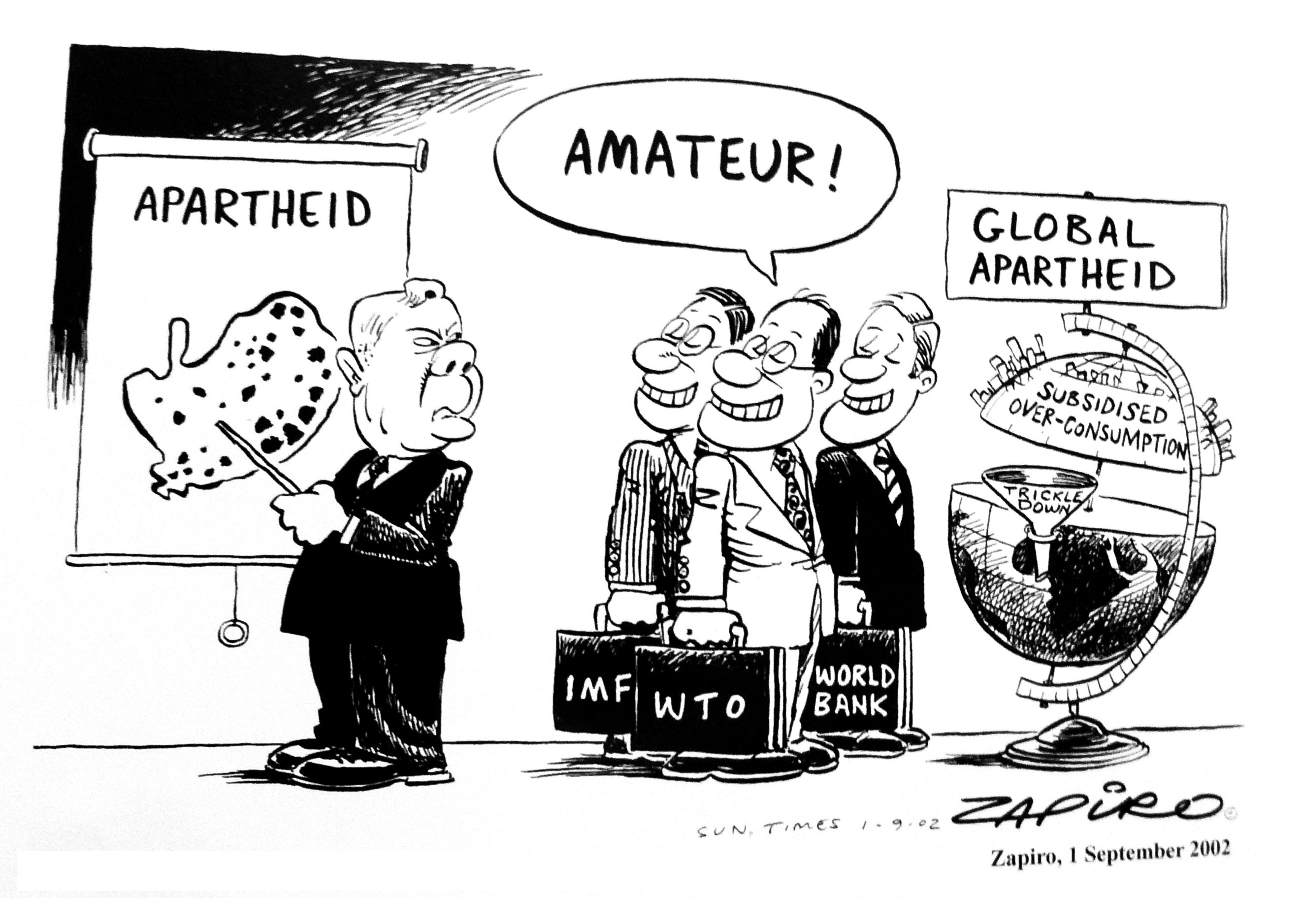 No laughing matter cartoons of South Africa in the world