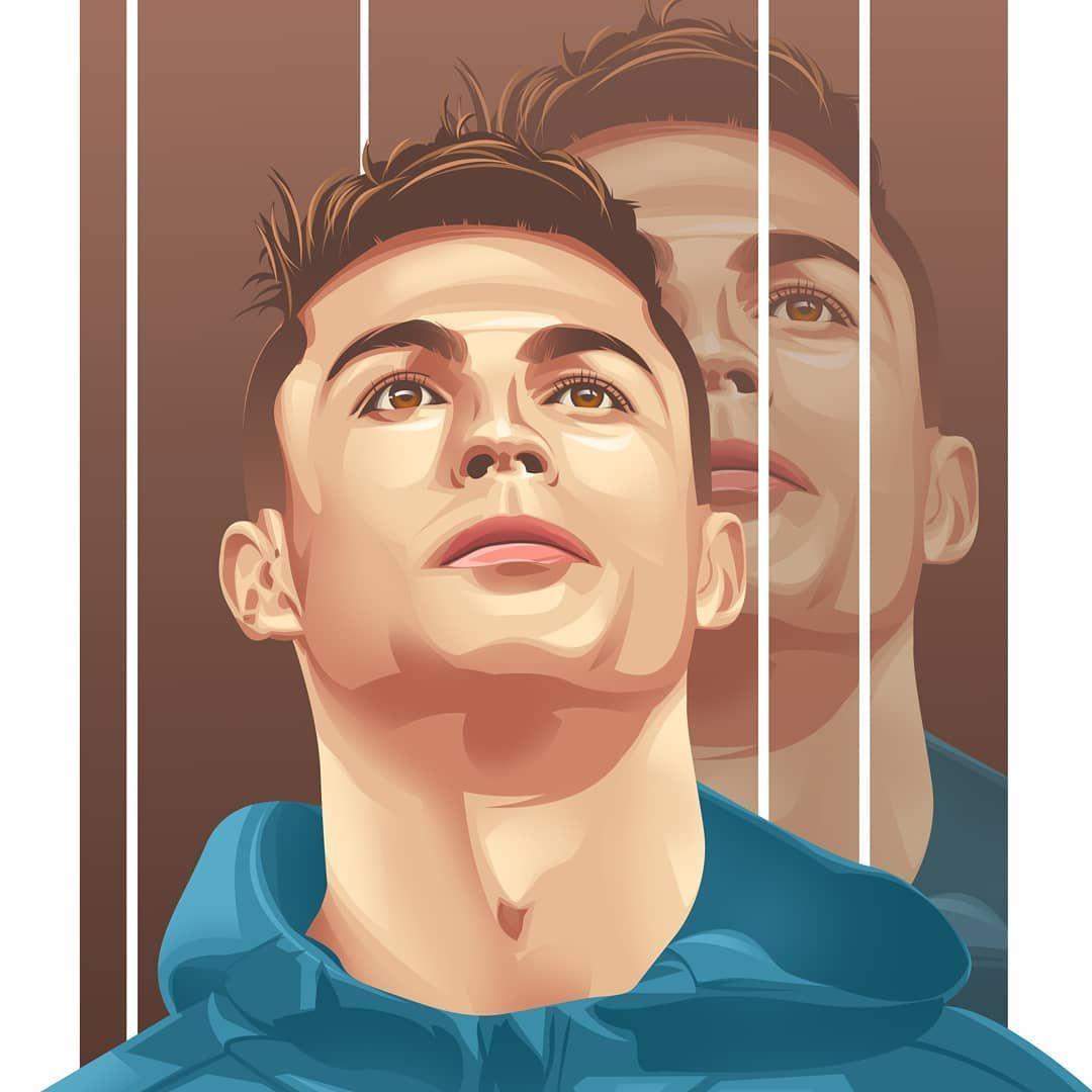 Pin By Josue Jaramillo On Juventus Illustration Football Illustration Vector Portrait Illustration Cristano Ronaldo