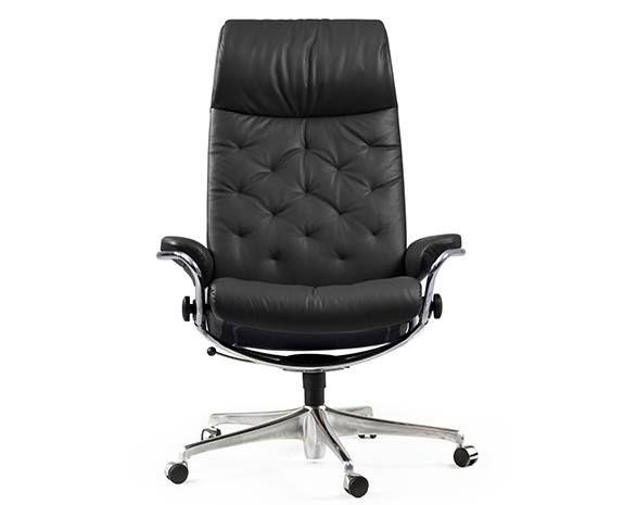 fauteuil de bureau inclinable vintage 50 s stressless metro office roulettes en cuir ou tissu
