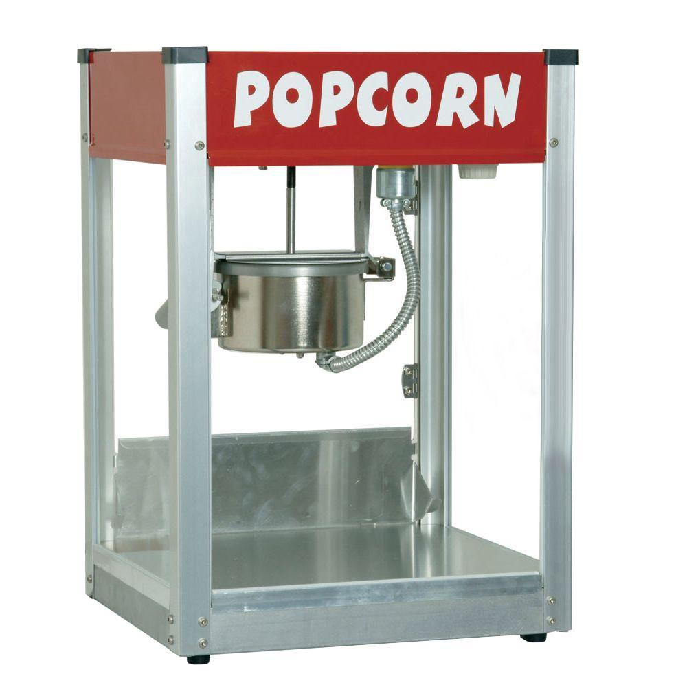 Paragon Thrifty Pop 4 Oz Red Stainless Steel Countertop Popcorn