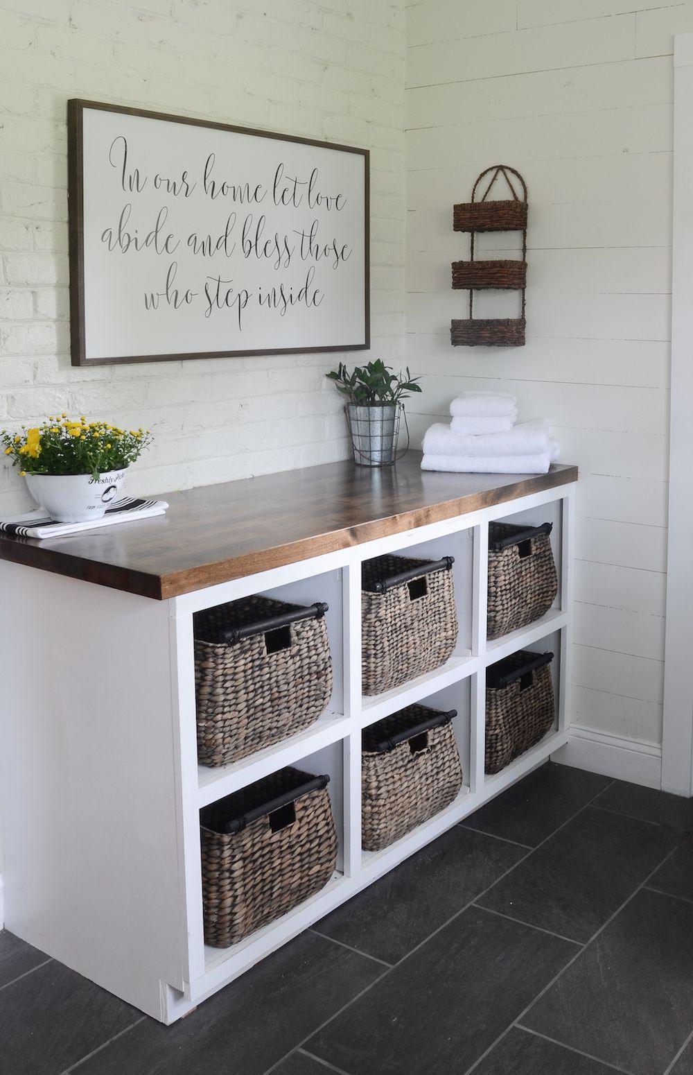 Modern Farmhouse Laundry Room Reveal | Pinterest | Waschraum ...