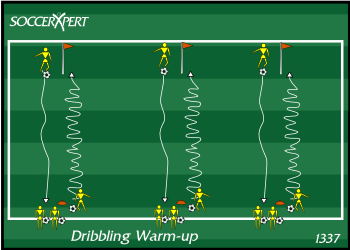 Soccer Drill Diagram Dribbling Warm Up Drill Uses All