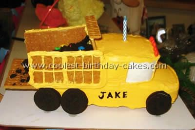 Coolest Construction Cakes and Dump Cake Ideas Homemade birthday
