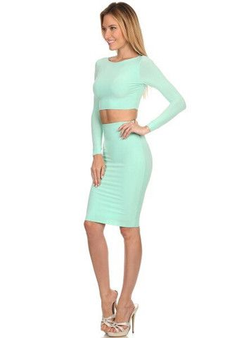 Its almost fall, lets think about the stylish sets to make you stand out! Shop Candice Set in Mint online at www.RedSplashBoutique.com