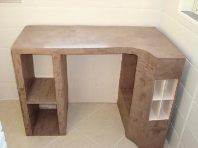 Bureau en carton création meuble en carton de cymao n°
