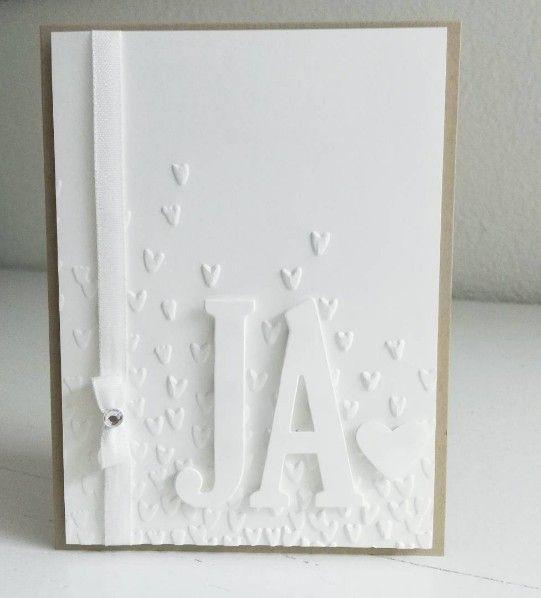Hochzeitskarte basteln mit Prägefolder Blütenregen und Framelits