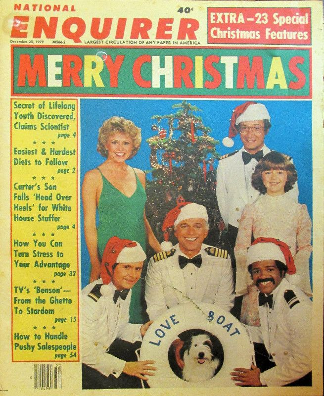 "NATIONAL ENQUIRER DECEMBER 25 1979 Nothing says ""Merry Christmas"" better than the National Enquirer."