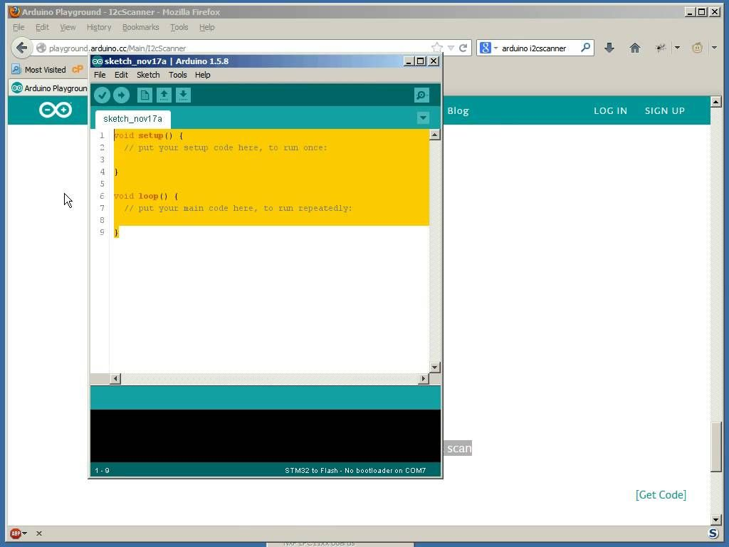 Arduino IDE with an STM32F103 board | Arduino
