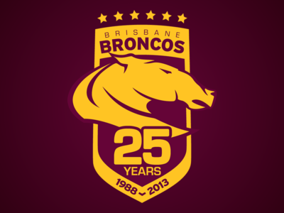 Brisbane Broncos 25 Years Brisbane Broncos Broncos Brisbane