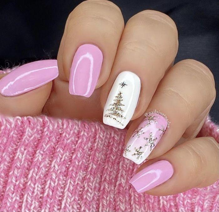 40 increíbles ideas de diseño de uñas de Navidad | Ecemella  – Boda fotos