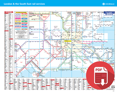 East London Map Pdf.Image Result For London And South East Rail Map Train Map