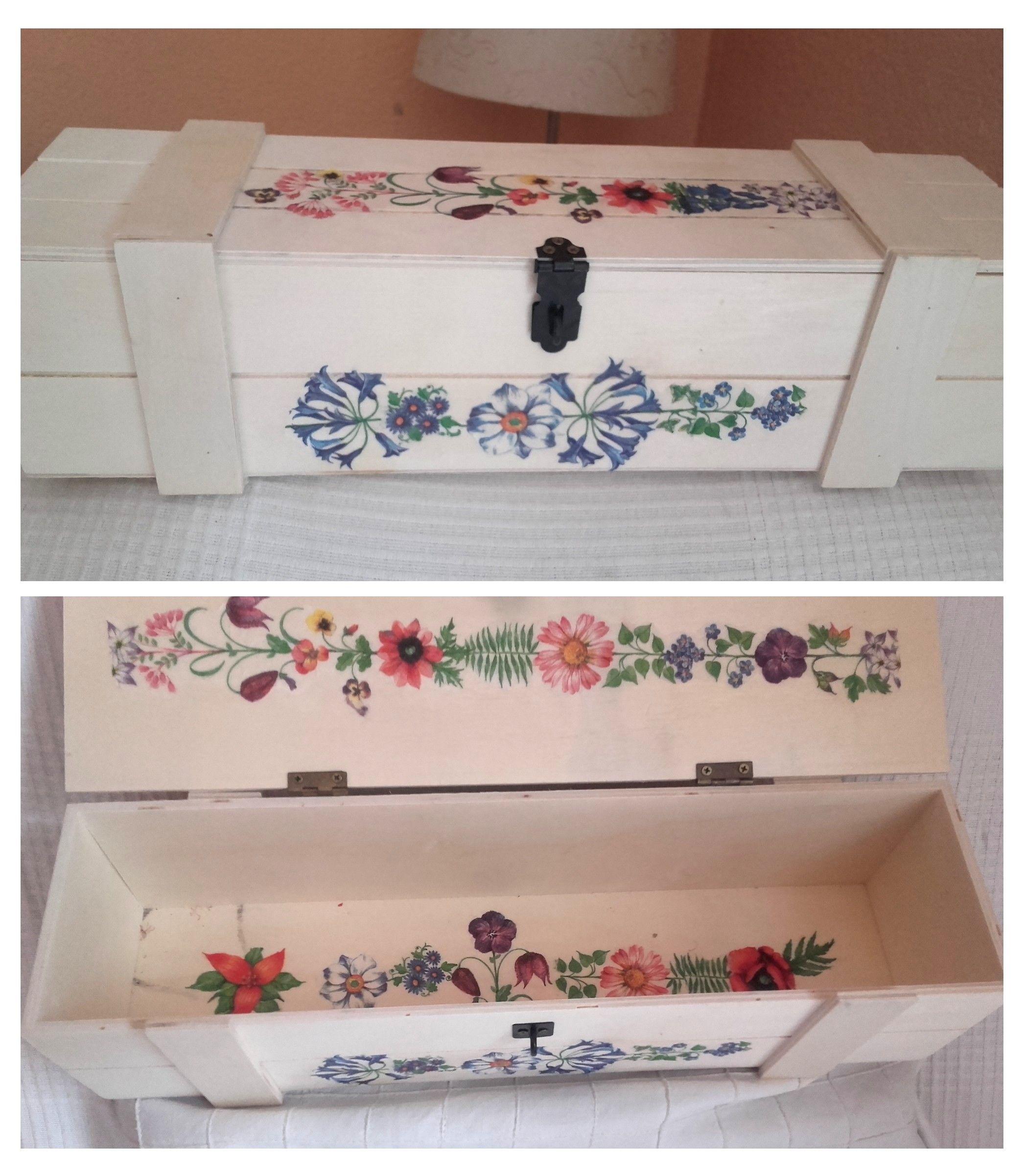 20 Imagenes de cajas de madera decoradas