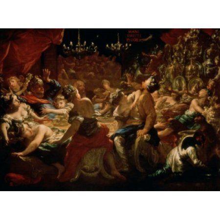 Balthazars Festival Pietro Dandino (1646-1712Italian) Pushkin Museum of Fine Arts Moscow Russia Canvas Art - Pietro Dandino (18 x 24)