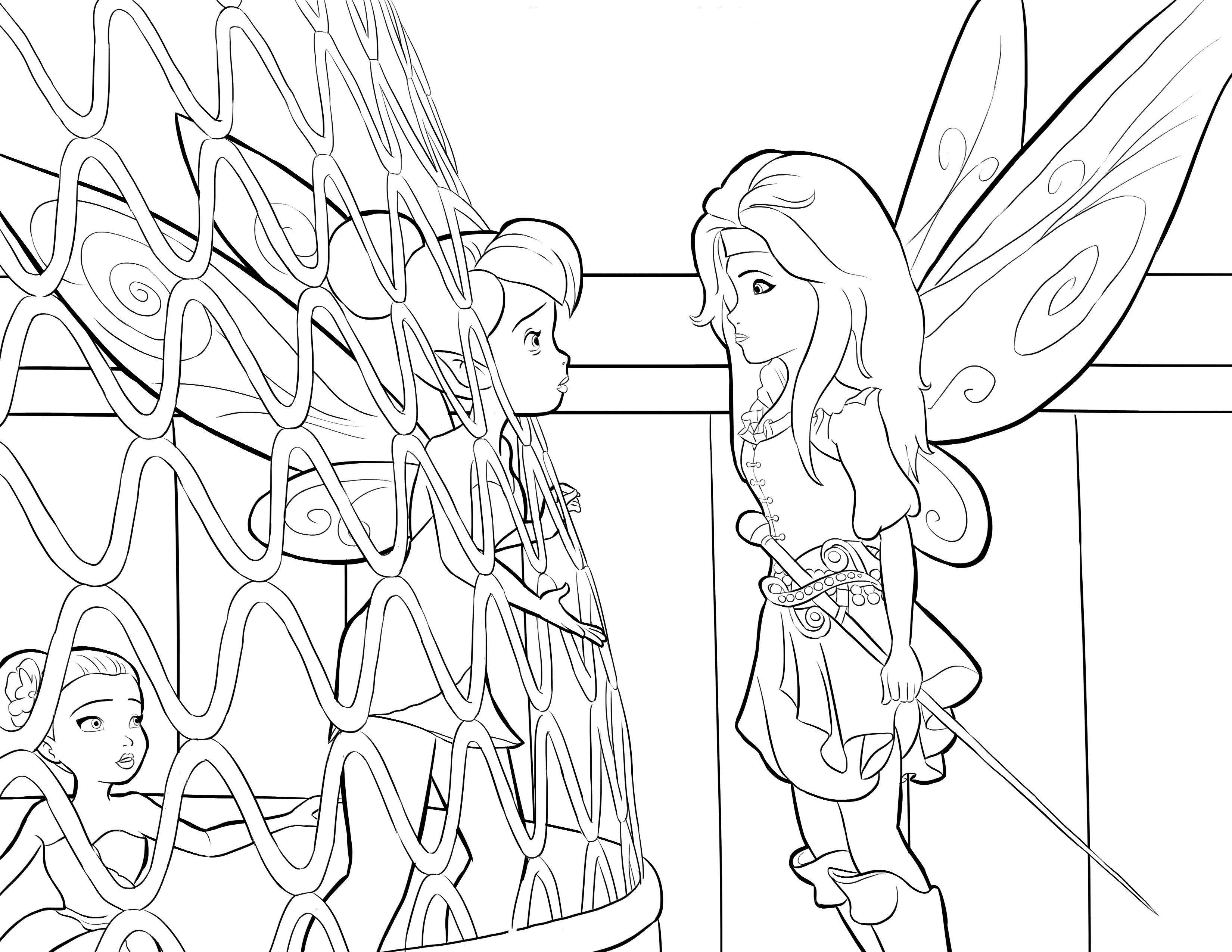 dibujos para colorear de tinkerbell | Peter Pan ...