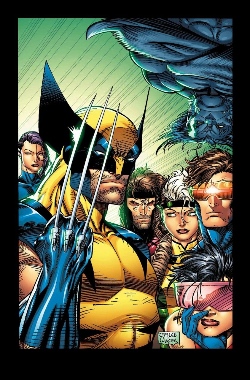 The X Men Are A Superhero Team Of Mutants Founded By Professor Charles Xavier They Are Dedicated To Helping Fellow Mutants And Sworn Jim Lee Art Marvel X Men