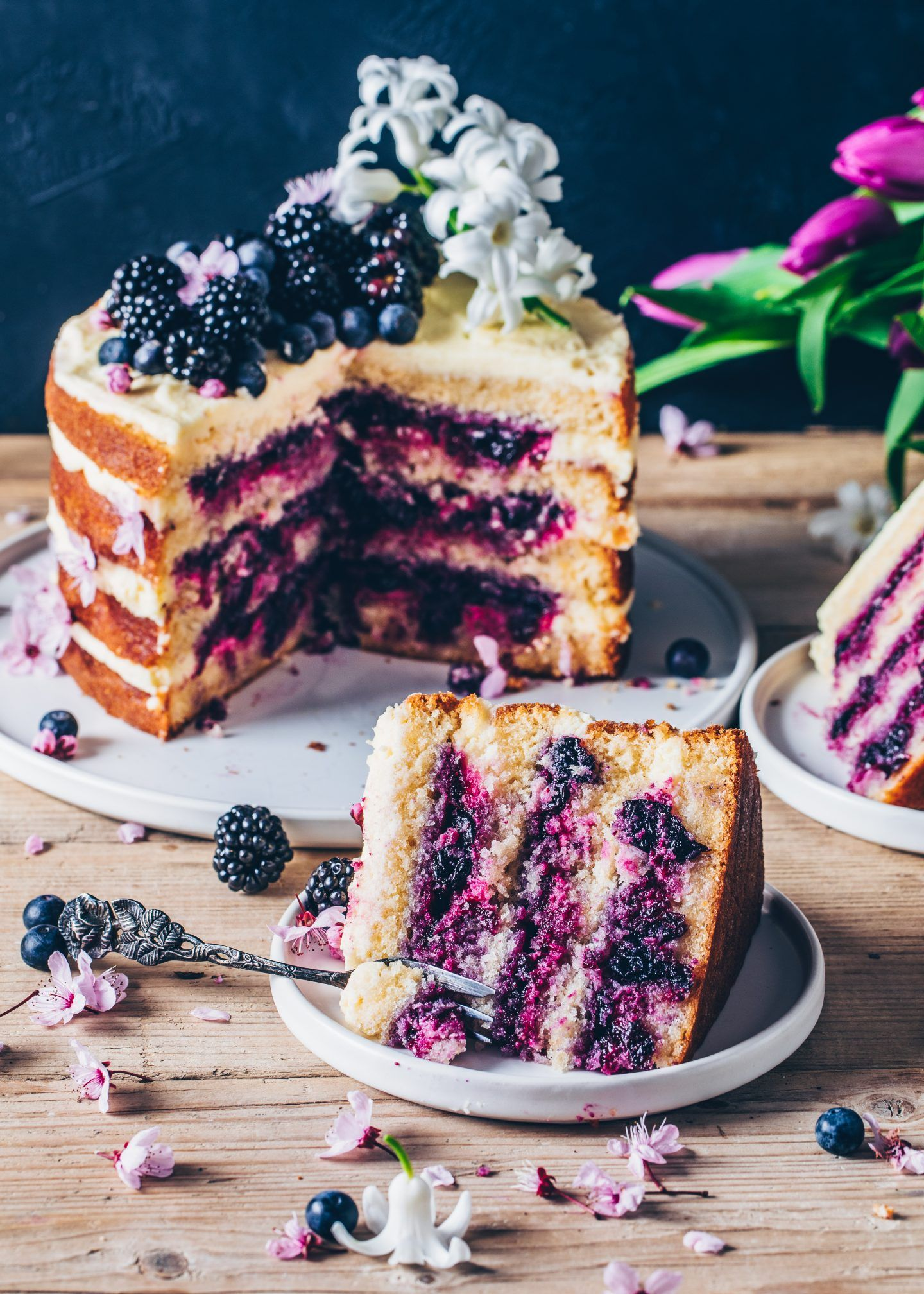 Rezept Kuchen Vegan Vegan Lemon Blueberry Cake
