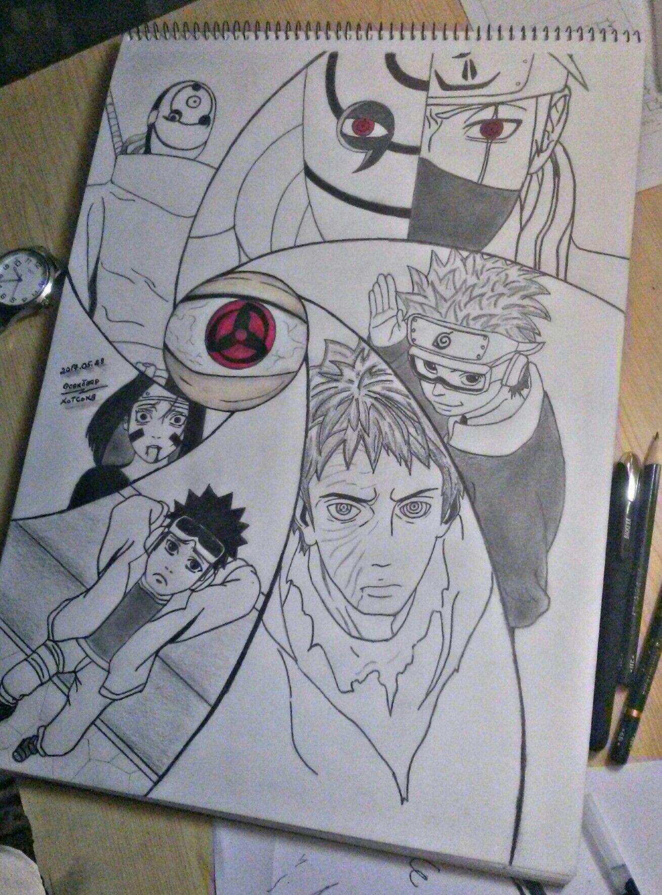 Obito Uchiha Esboco De Anime Naruto E Sasuke Desenho Desenho De Olho De Anime