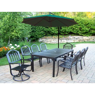 Oakland Living Rochester 9 Piece Swivel Dining Set With Umbrella · New FurnitureLiving  FurnitureOutdoor ...