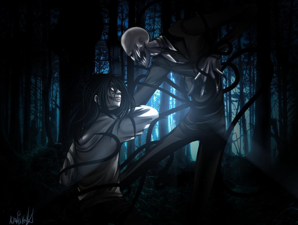 Slender vs Jeff by Kamik91.deviantart.com on @DeviantArt