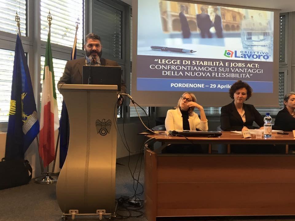 Pordenone  Workshop Sulla Legge Di Stabilit U00e0 E L U0026 39 Entrata In Vigore Del Jobs Act Per Un Confronto