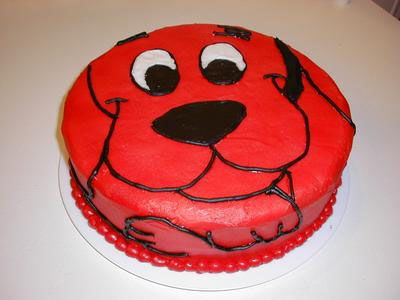 Smash Cake Idea Needed Clifford Theme