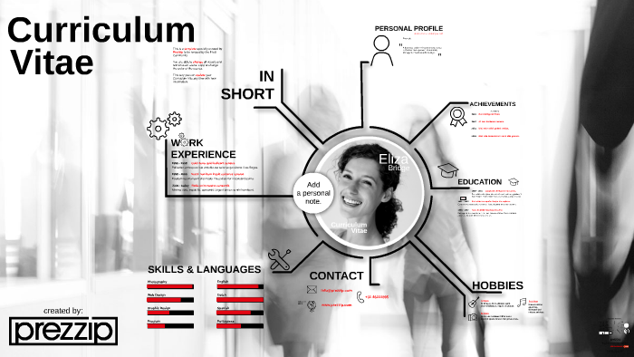 FREE  Curriculum Vitae by Prezzip com - Prezi templates, Curriculum vitae, Prezi, Curriculum, Prezi design, Prezi presentation - Available at Prezzip com Prezi template Curriculum Vitae by Prezzip  Update your CV when ever you like and share it with new potential employers!