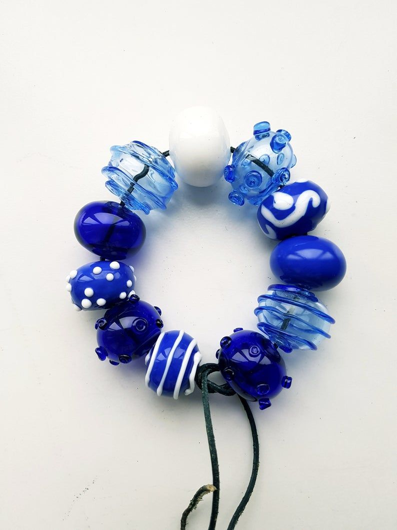 Handmade Glass Hollow Beads For Necklace Lampwork beads Glass Beads Craft. Handmade Blown beads