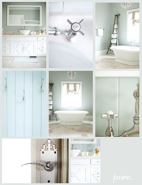 I Love This Pale Blue Colour To Go With The White Panelling On The Bottom Half Of The Walls The