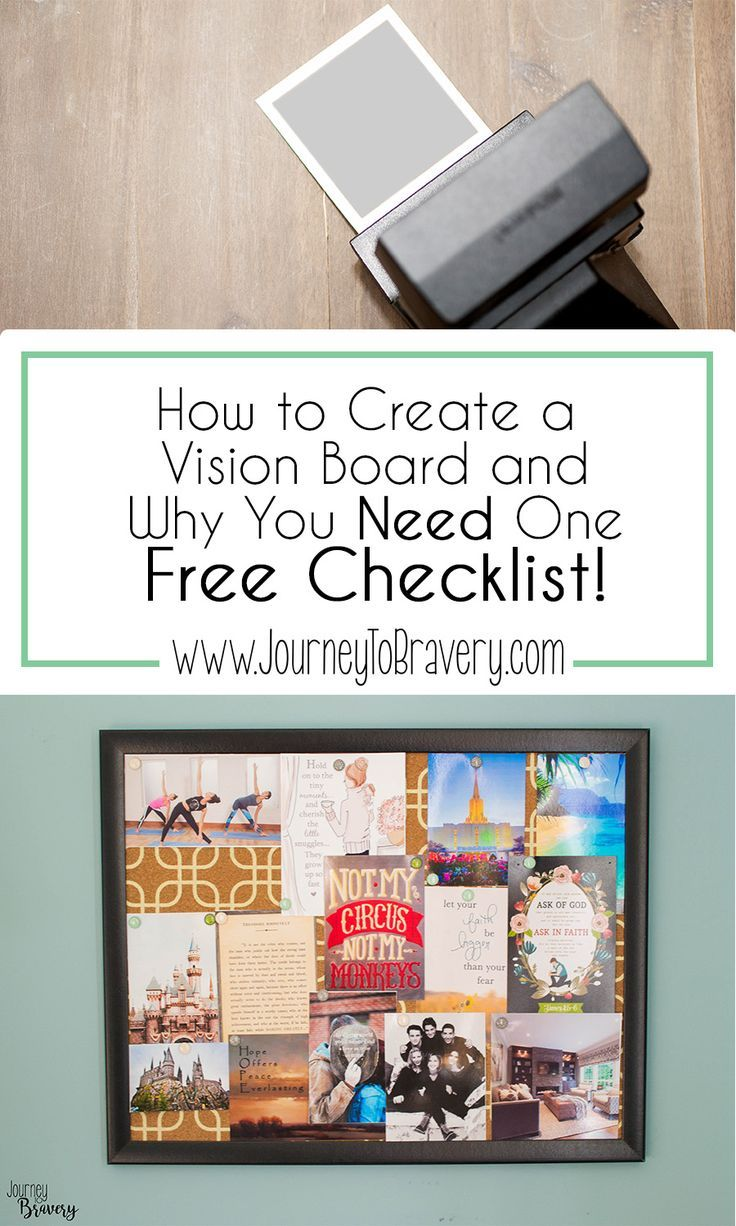 How To Create A Vision Board And Why You Need One  Board