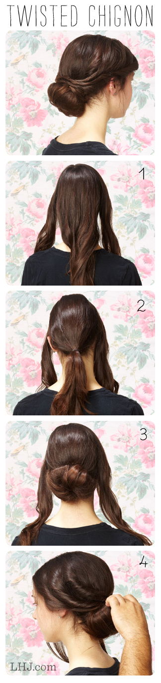 How To Do A Twisted Chignon – More