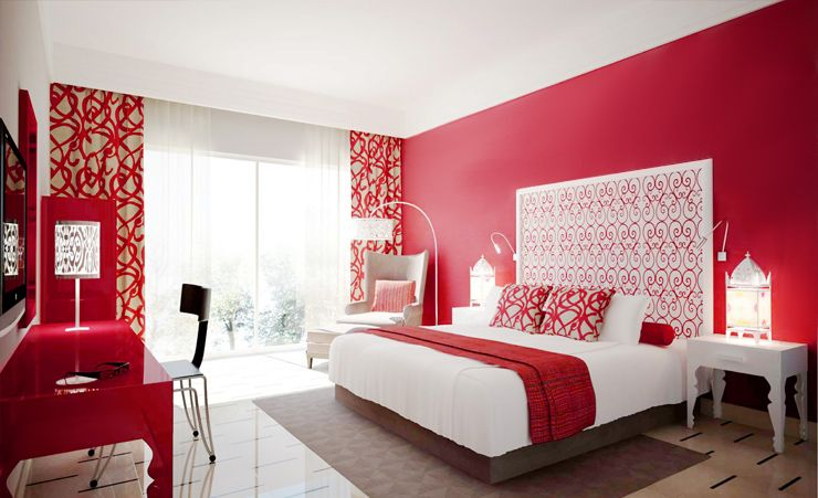 Passionate Red Ideas Colors For This Year Samba Red A Passionate And Lively Color Red Bedroom Walls Bedroom Red Bedroom Wall Paint