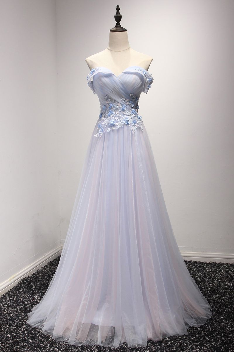 Elegant long tulle prom dresses for teenscheap prom dressessimple