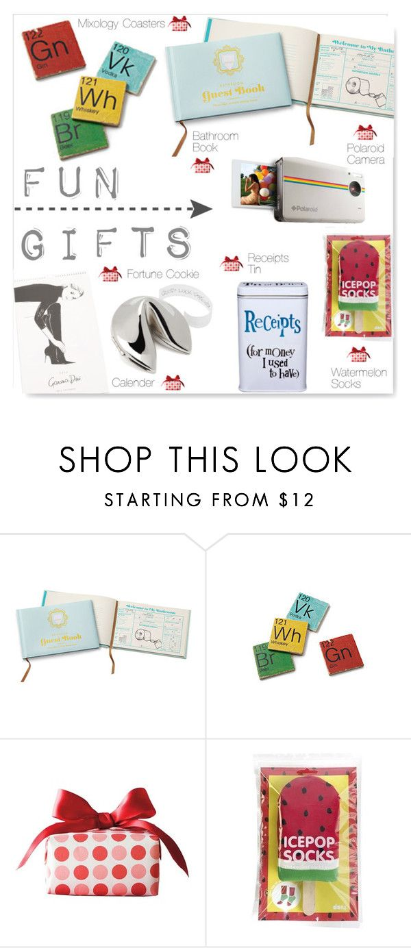 """""""Fun Gifts"""" by drenise ❤ liked on Polyvore featuring interior, interiors, interior design, home, home decor, interior decorating, Polaroid, Humör, Clinique and Lipsy"""