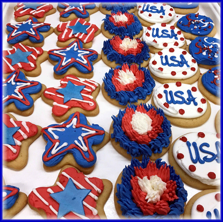 Patriotic hand decorated sugar cookies made with vanilla ...