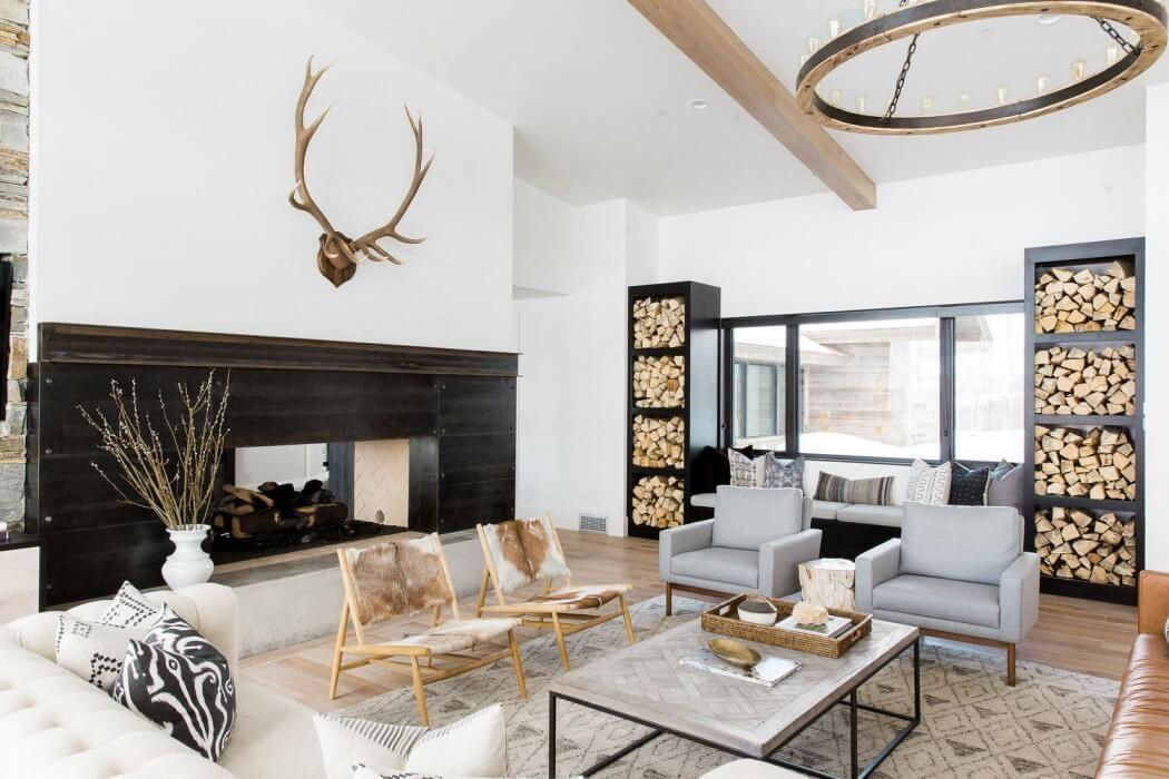 Fireplace Insight Firewood Shelves